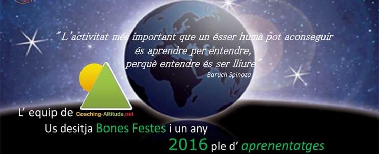L' Equip de Coaching Altitude us desitja Bones Festes i un any 2016 ple d' APRENENTATGES!