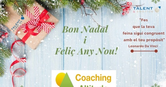 L Equip de Coaching Altitude et desitja Bon Nadal i Felic Any Nou_